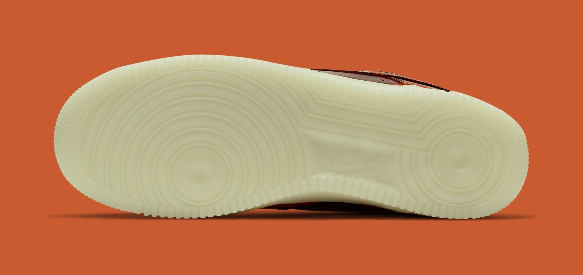 Nike Air Force 1 Low Skeleton 'Orange' CU8067-800 Outsole
