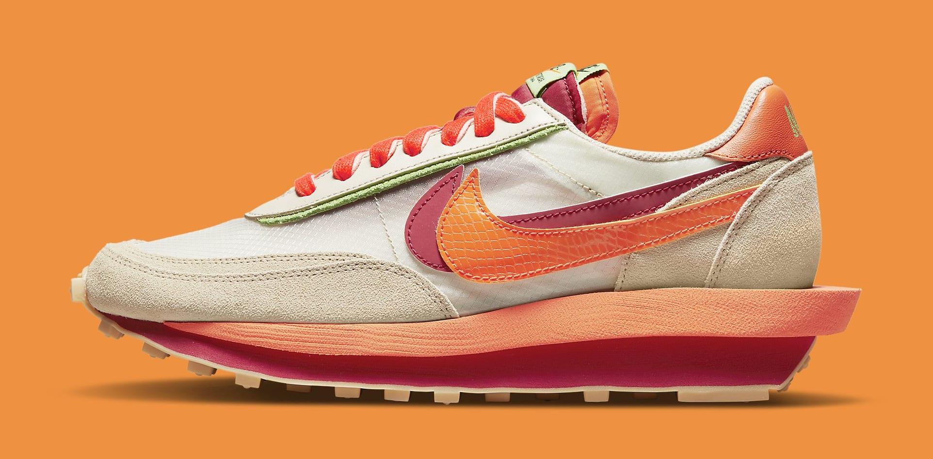 Sacai x Clot x Nike LDWaffle DH1347-100 Lateral