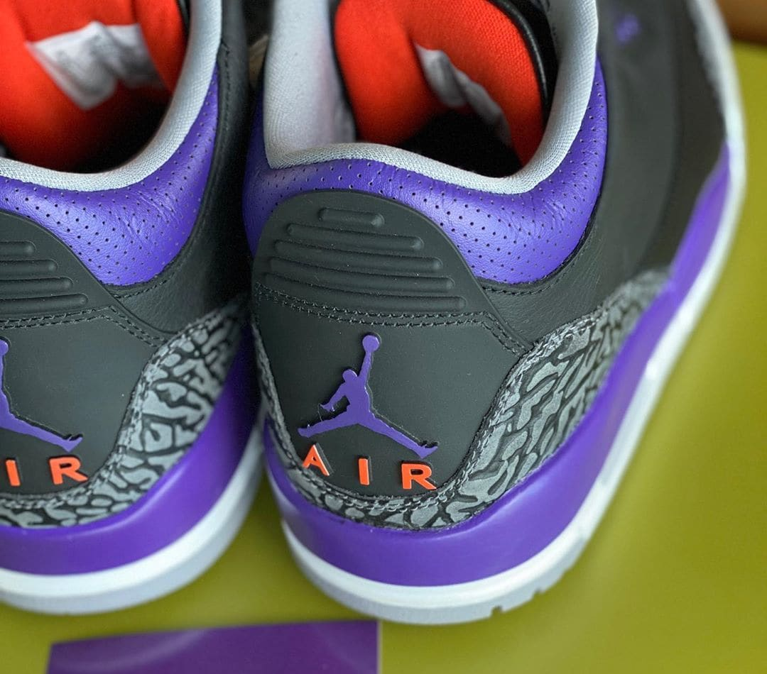 Air Jordan 3 Retro 'Court Purple' CT8532-050 Heel