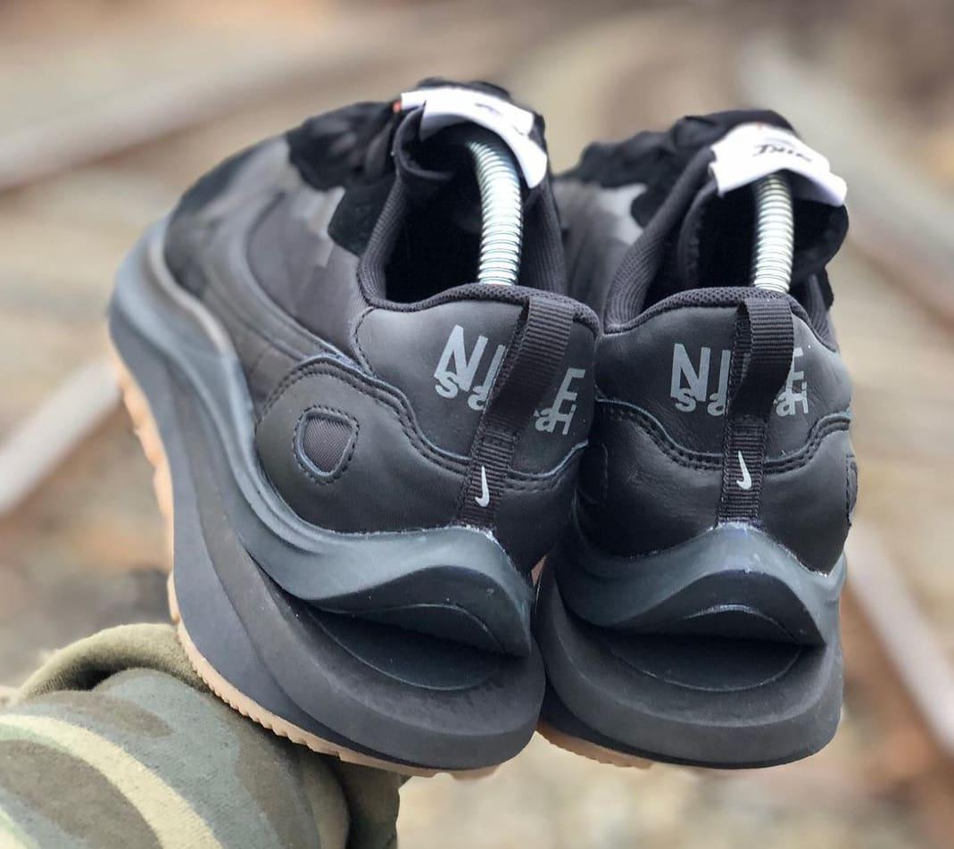 Sacai x Nike VaporWaffle 'Black Nylon' Heel