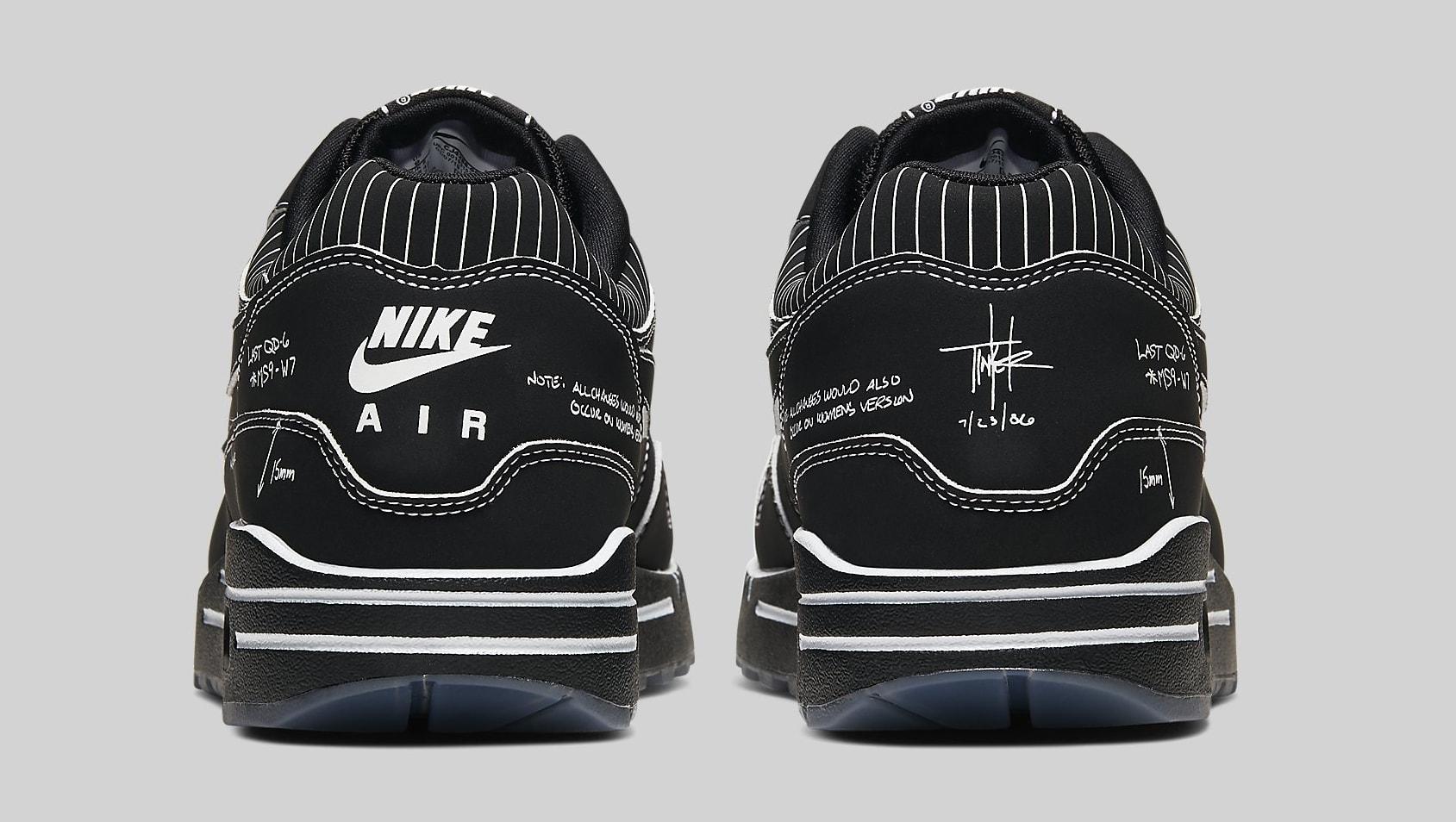 Nike Air Max 1 Black 'Schematic' CJ4286-001 Heel