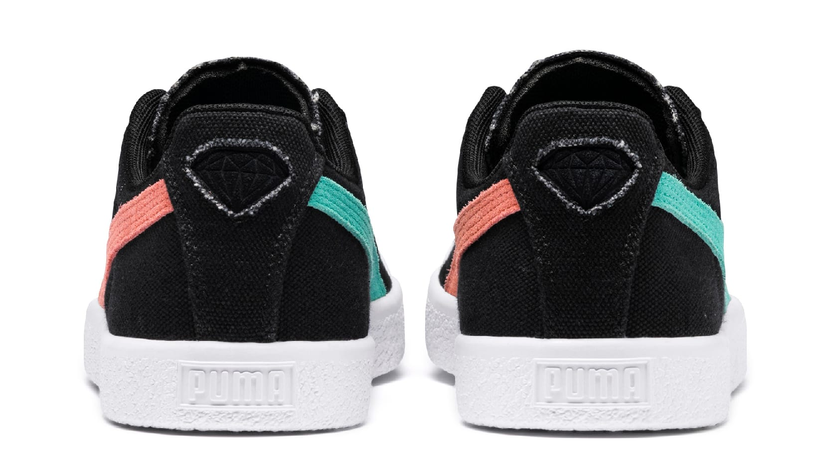 Diamond Supply Co. x Puma Clyde 369397 (Heel)