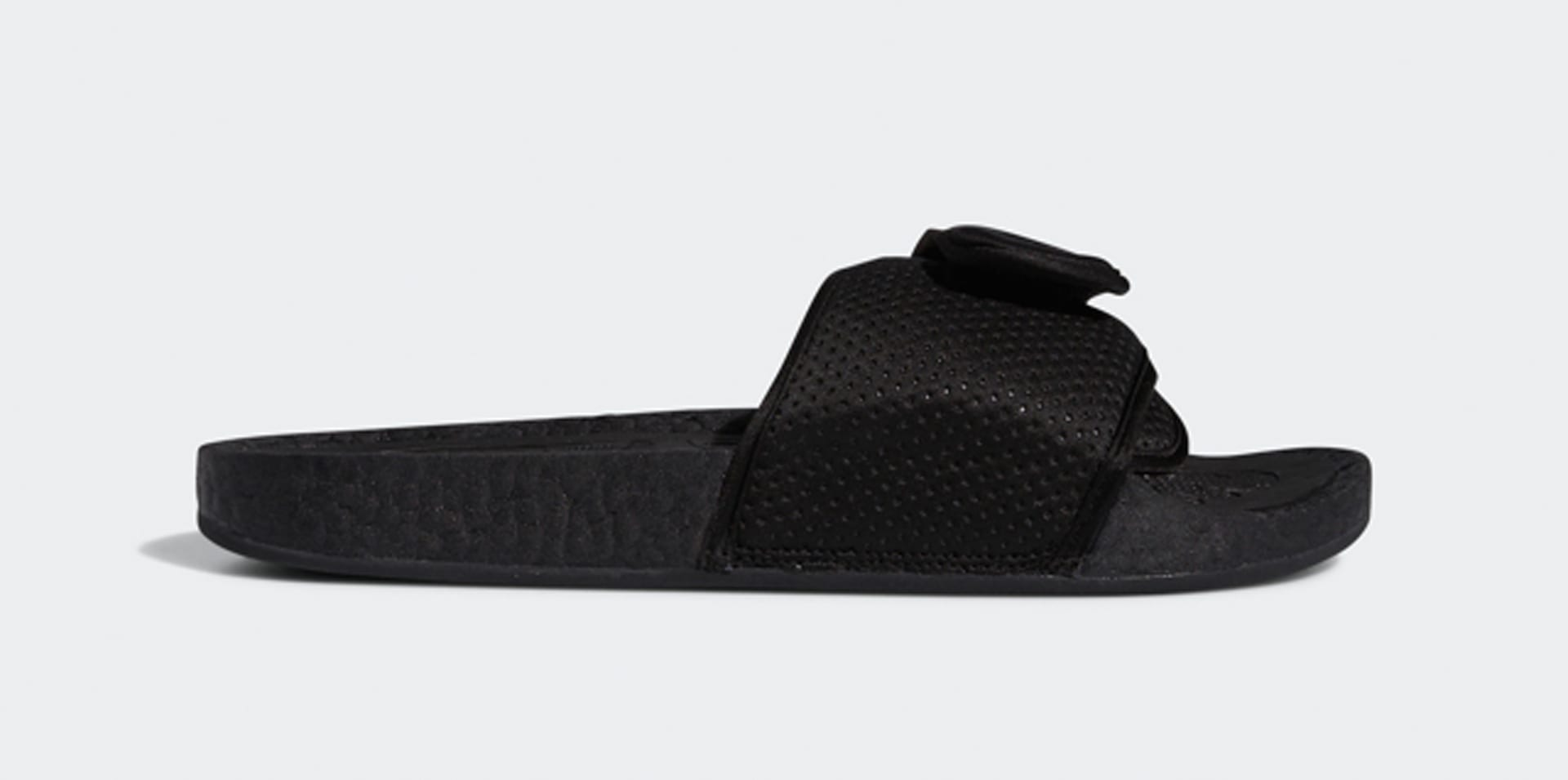 Pharrell x Adidas PW Boost Slide 'Core Black' Lateral