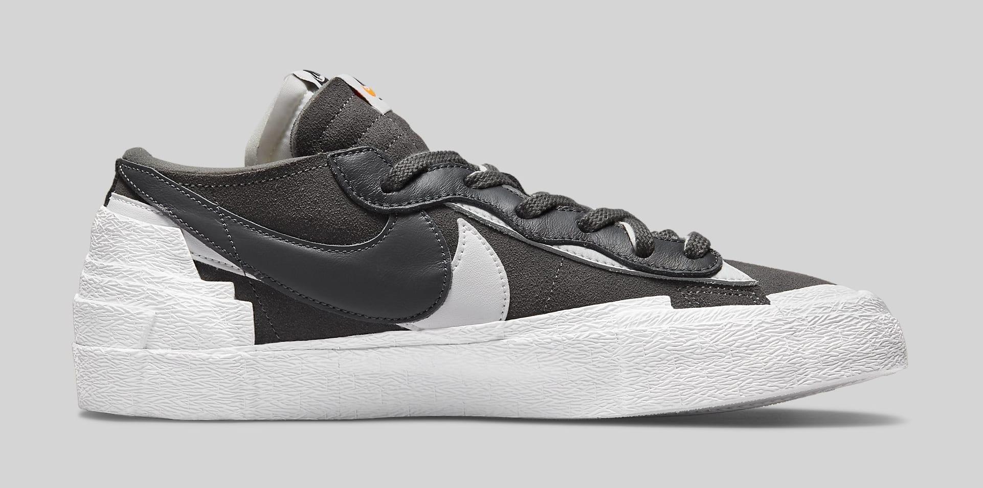 Sacai x Nike Blazer Low 'Iron Grey' DD1877-002 Medial