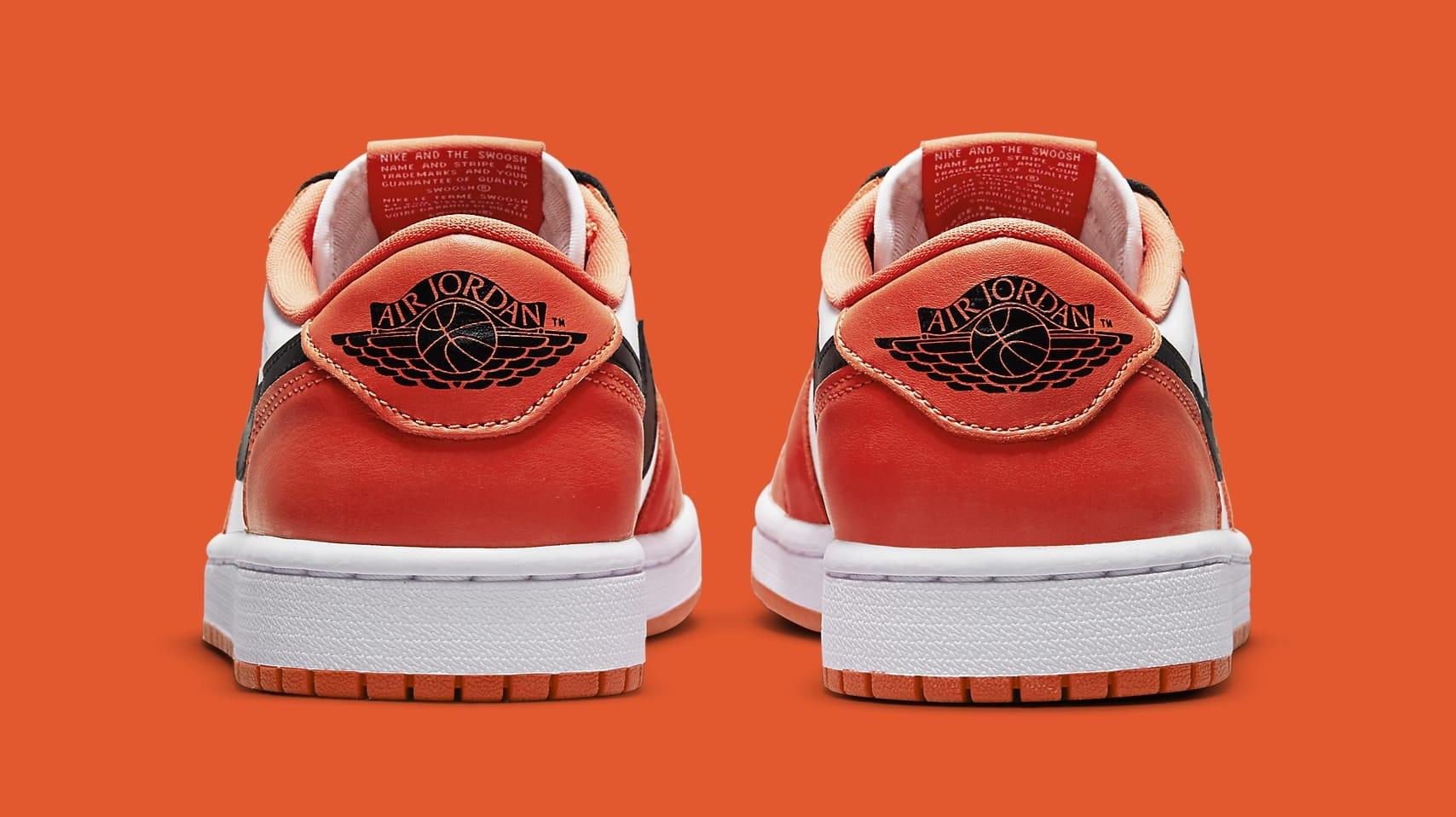 Air Jordan 1 Low OG 'Orange/White/Black' CZ0775-801 Heel