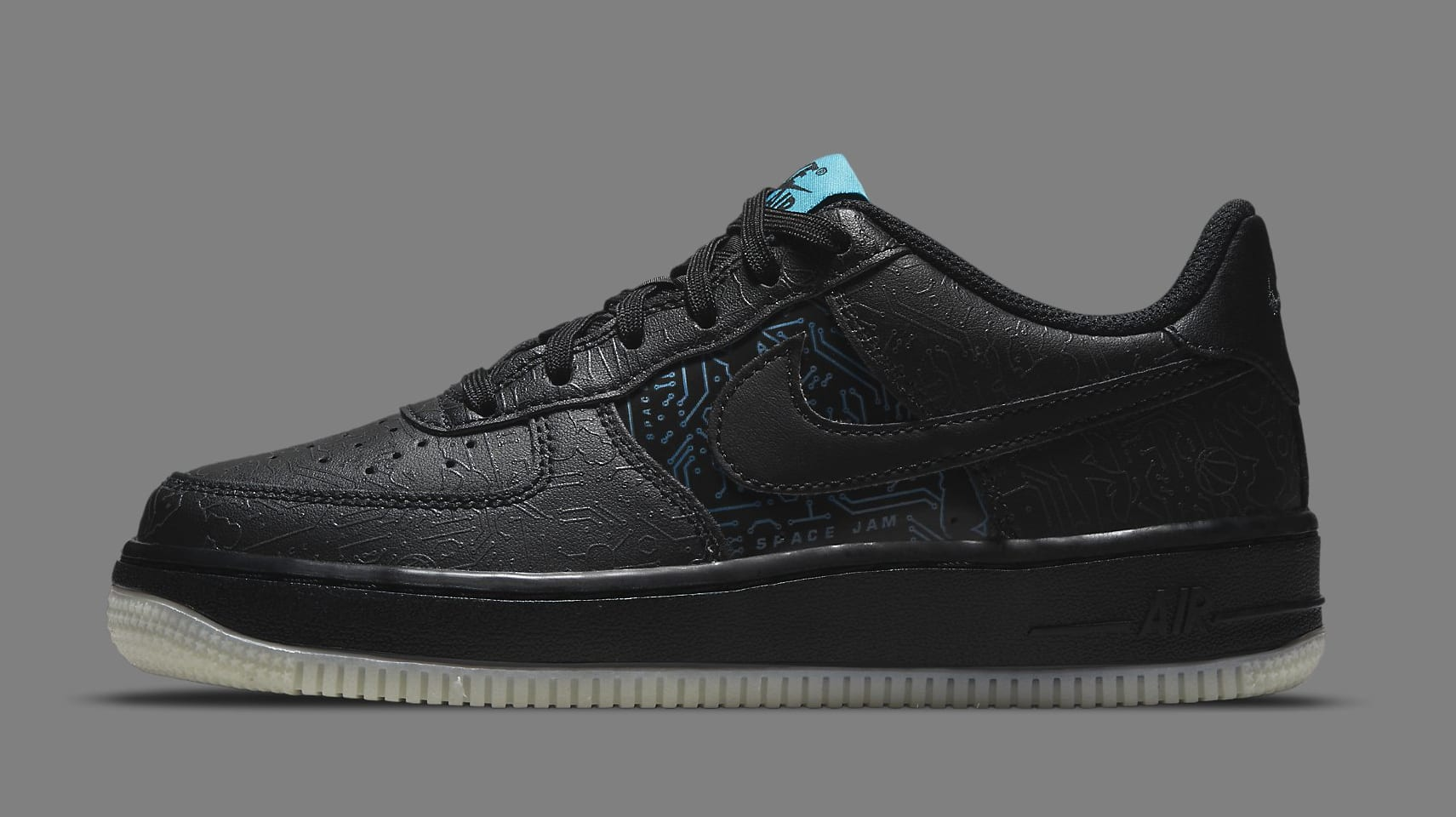Nike Air Force 1 Low GS 'Space Jam' DN1434-001 Lateral
