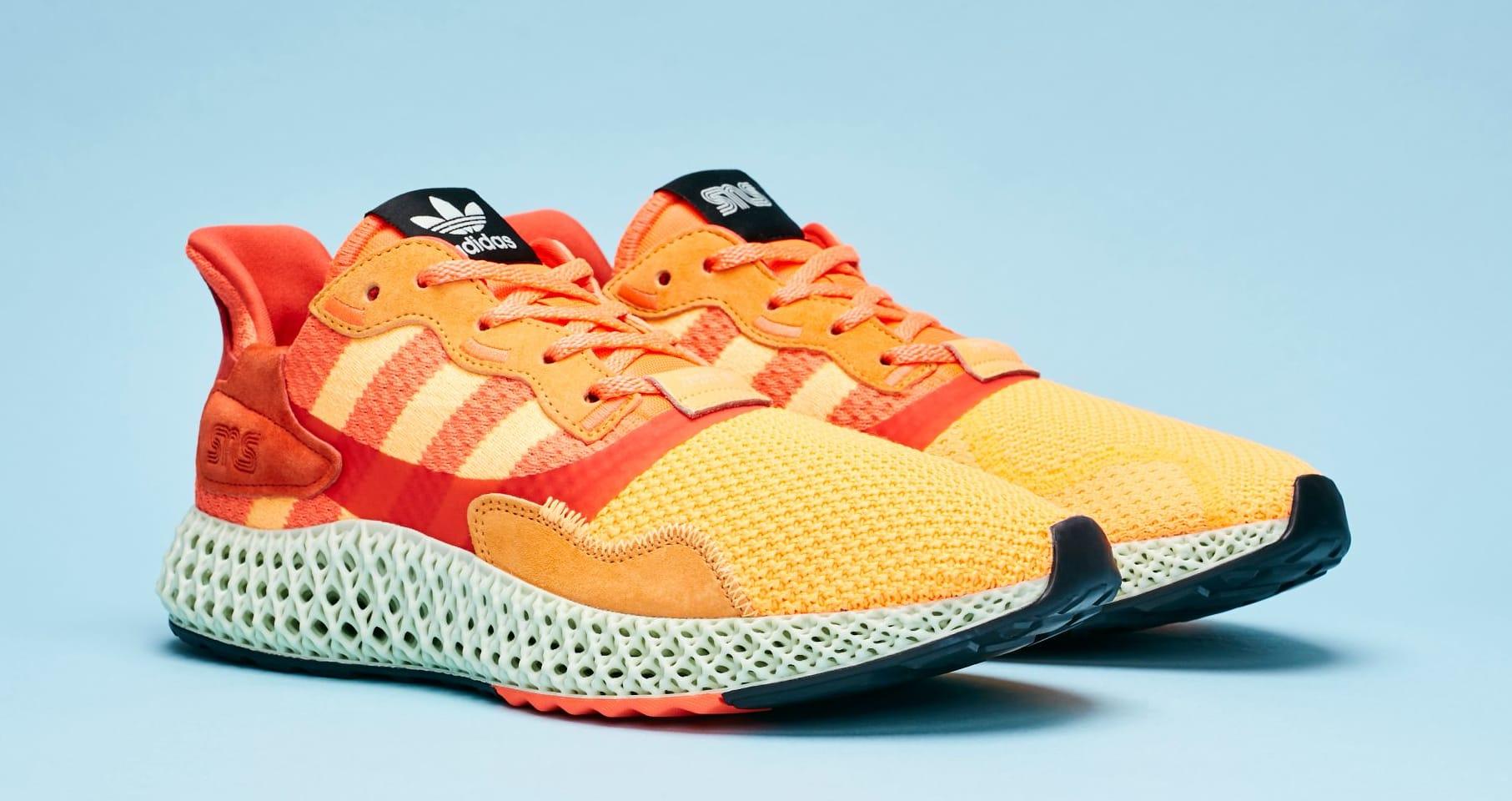 Sneakersnstuff x Adidas Consortium ZX 4000 4D 'Sunrise' (Pair)