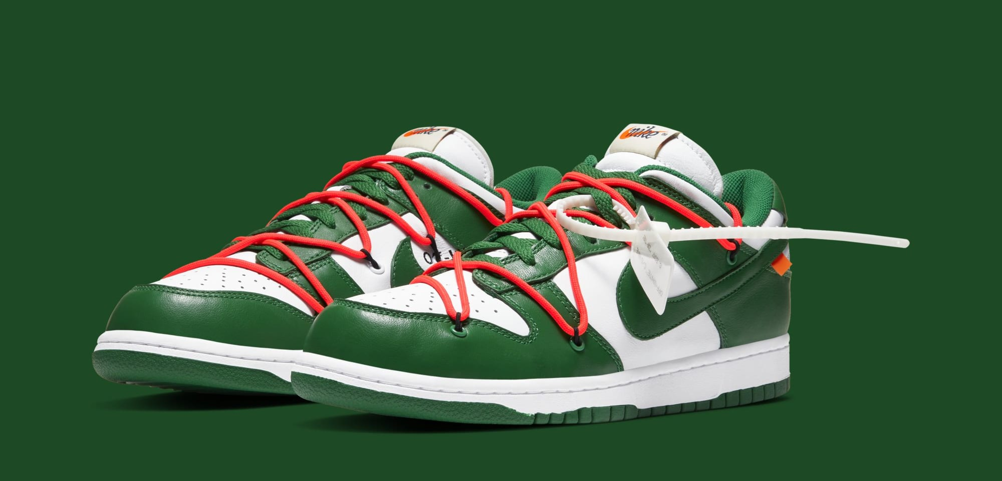Off-White x Nike Dunk Low 'White/Pine Green' CT0856-100 (Pair)