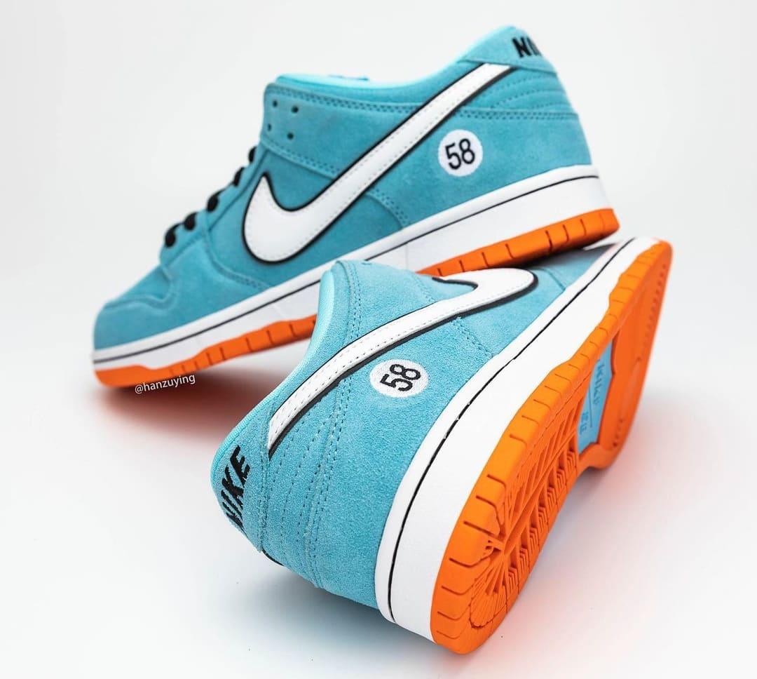 Nike SB Dunk Low 'Gulf' BQ6817-401 Heel