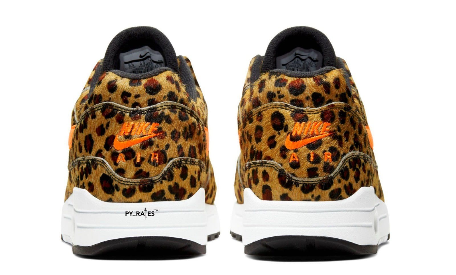 Atmos x Nike Air Max 1 'Multi-Color/Total Orange/White/Black' AQ0928-901 (Heel)