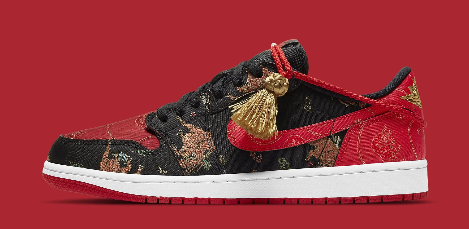 Air Jordan 1 Retro Low OG 'Chinese New Year' DD2233-001 Lateral