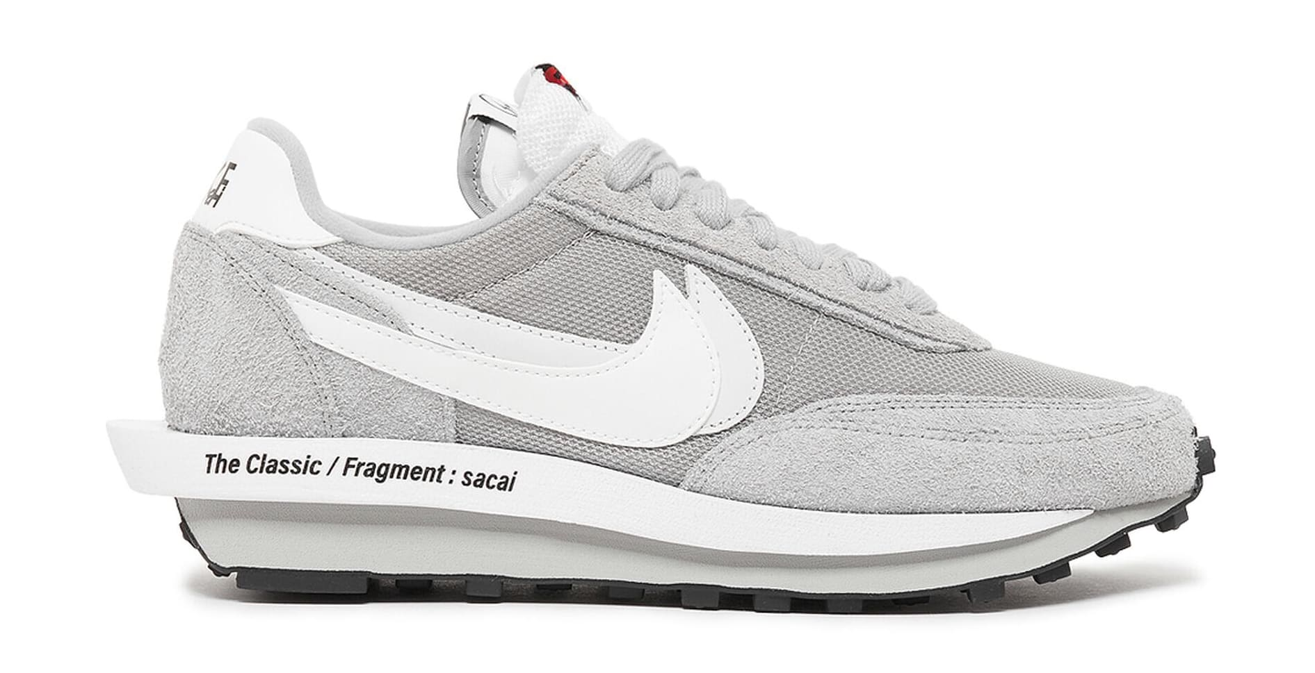 Fragment x Sacai x Nike LDWaffle 'Grey' DH2684-001 Lateral