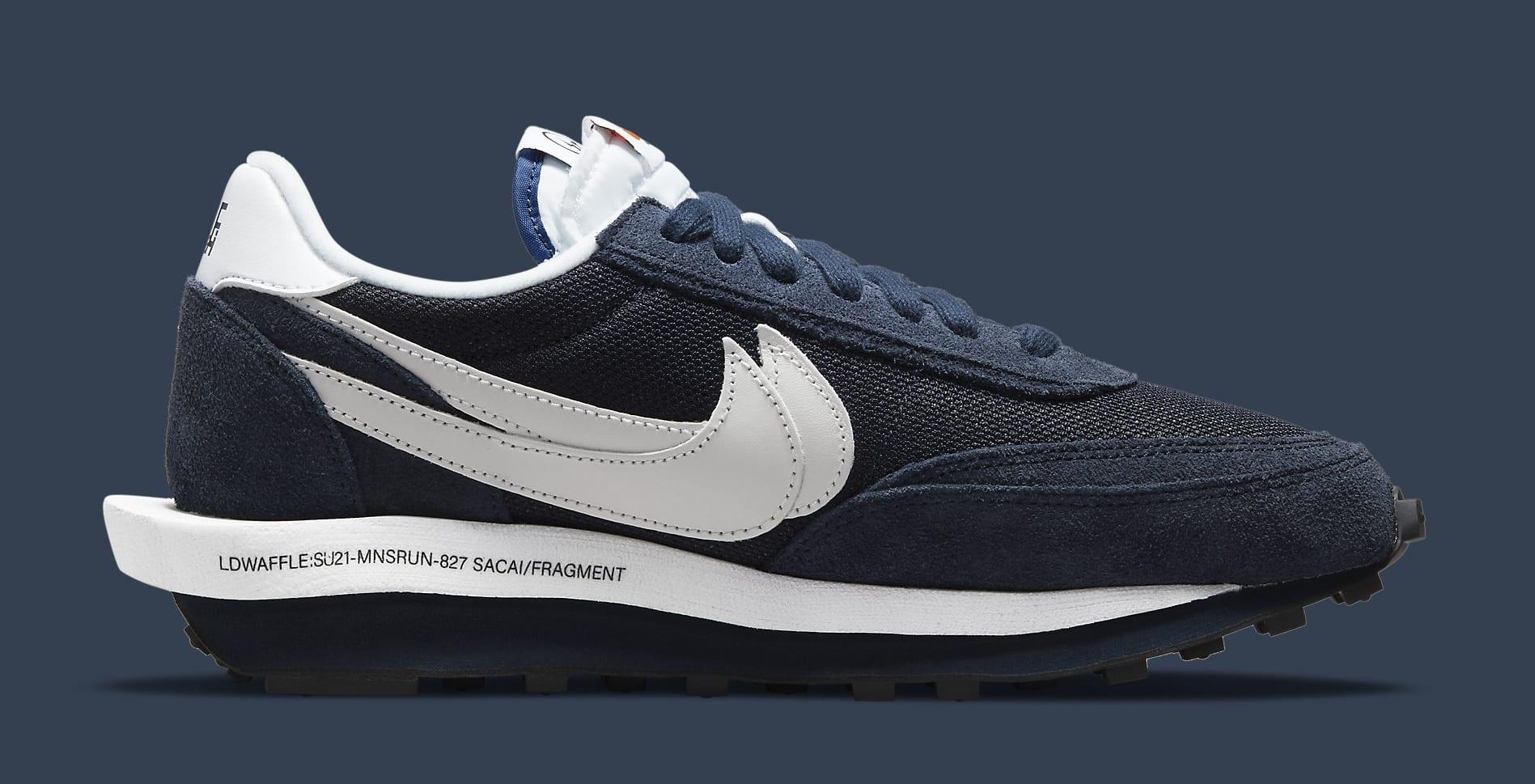Fragment x Sacai x Nike LDWaffle 'Blackened Blue' DH2684-400 Medial