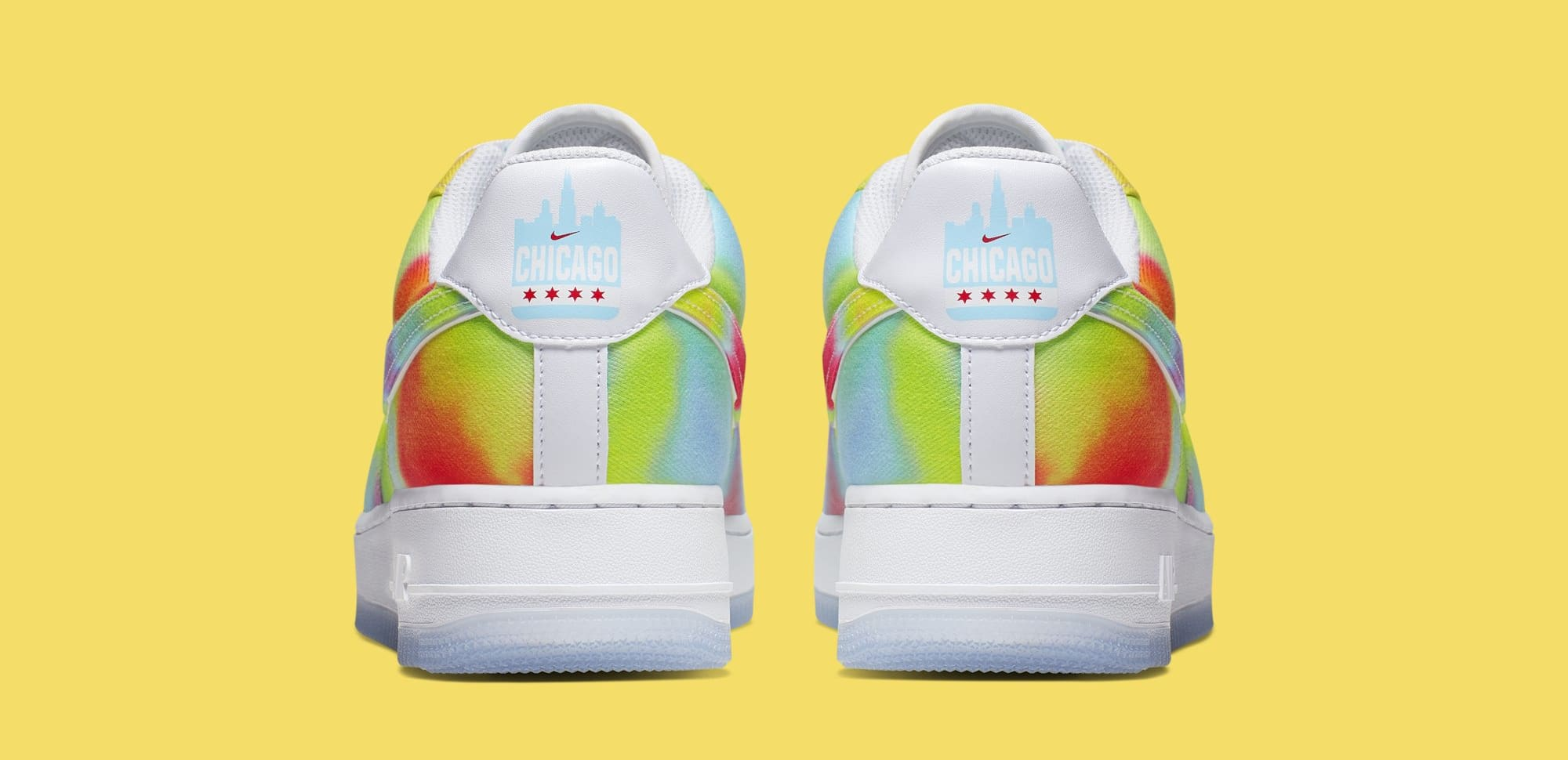 Nike Air Force 1 Low 'Tie-Dye/Chicago' CK0838-100 (Heel)