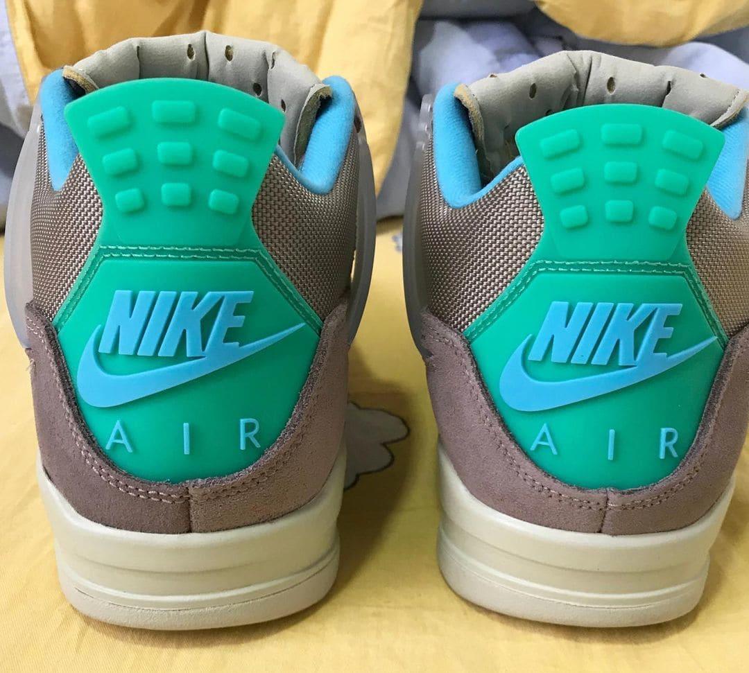 Union x Air Jordan 4 Retro 'Taupe Haze' Heel