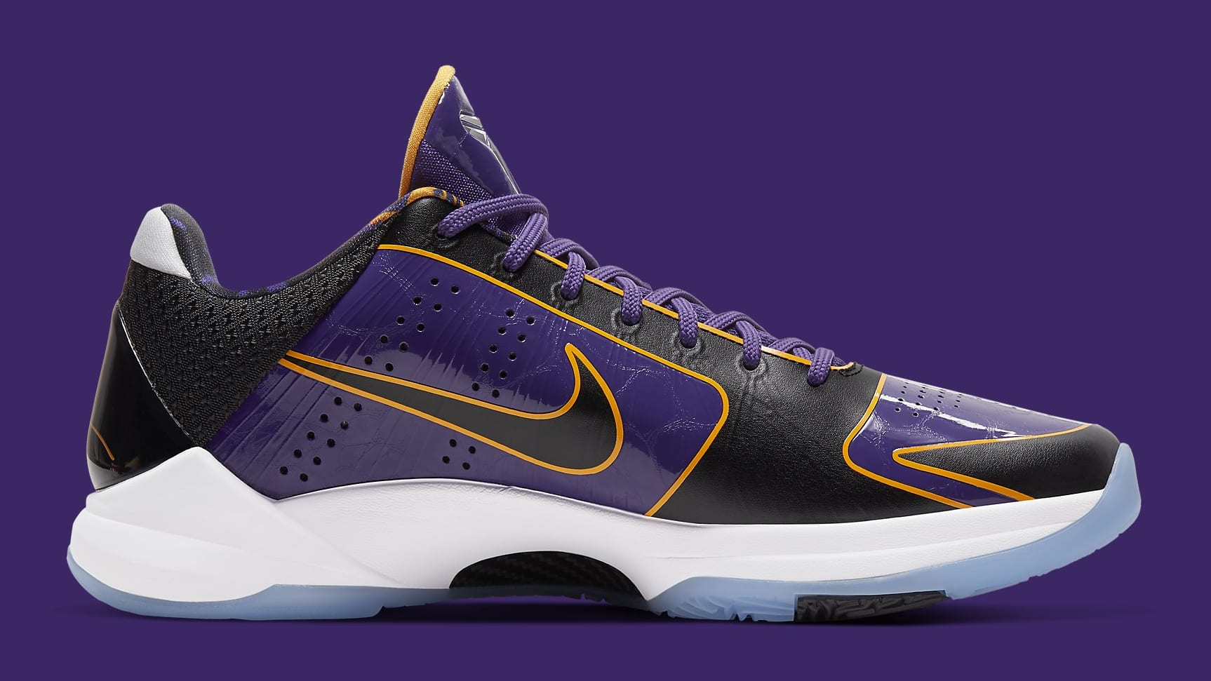 Nike Kobe 5 Protro Lakers Release Date CD4991-500 Medial