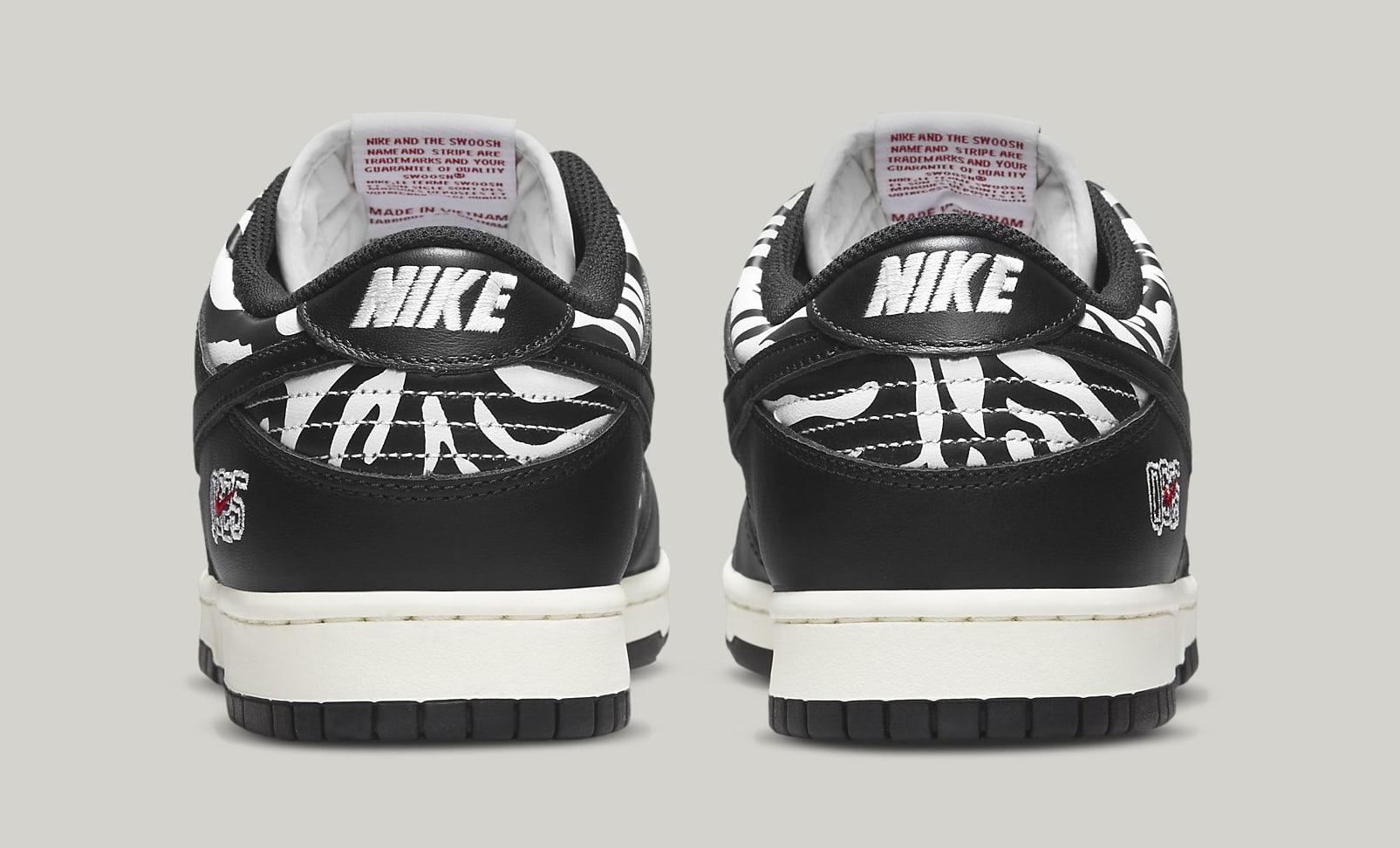 Quartersnacks x Nike SB Dunk Low DM3510-001 Heel