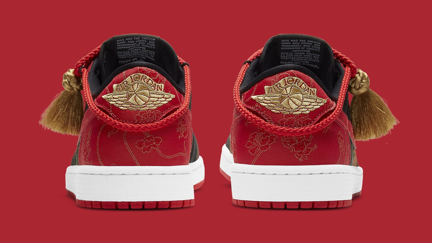 Air Jordan 1 Retro Low OG 'Chinese New Year' DD2233-001 Heel