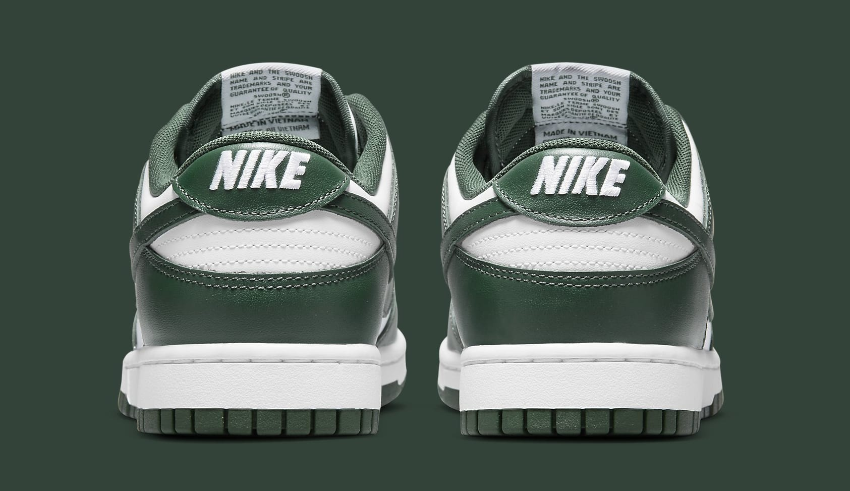 Nike Dunk Low 'Michigan State' DD1391-101 Heel