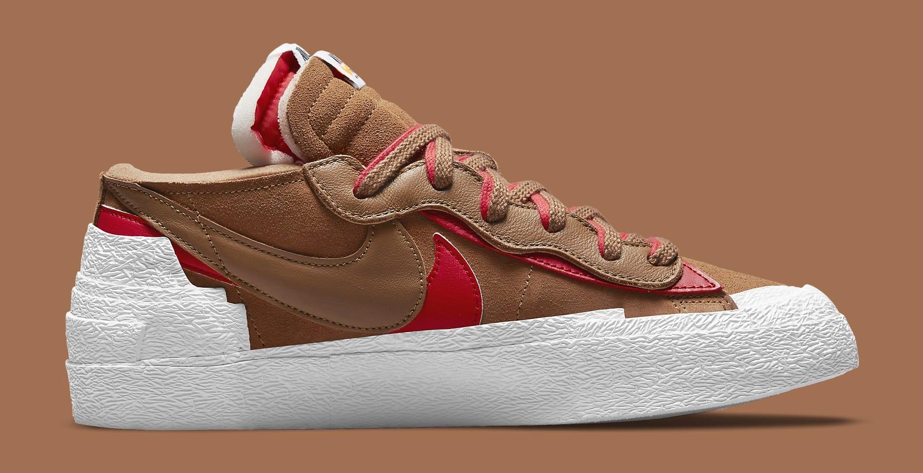 Sacai x Nike Blazer Low 'British Tan' DD1877-200 Medial