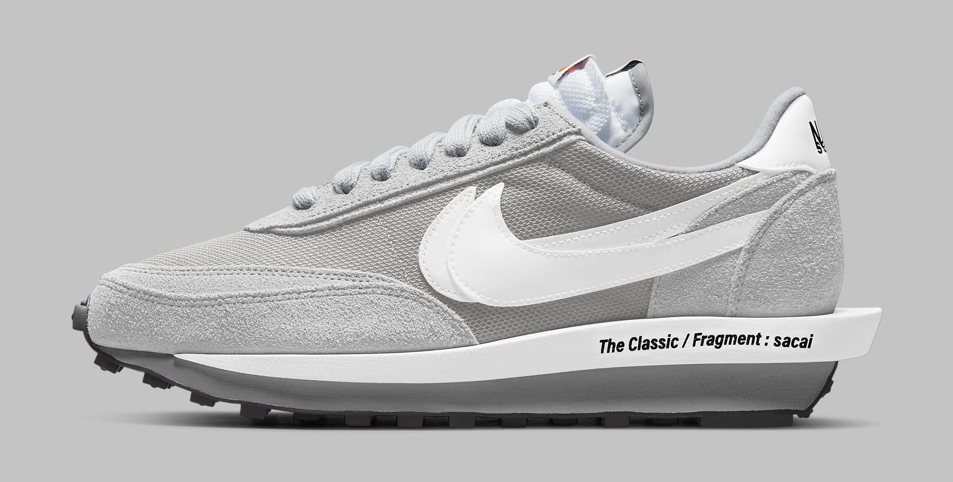 Fragment x Sacai x Nike LDWaffle 'Light Smoke Grey' DH2684-001 Lateral