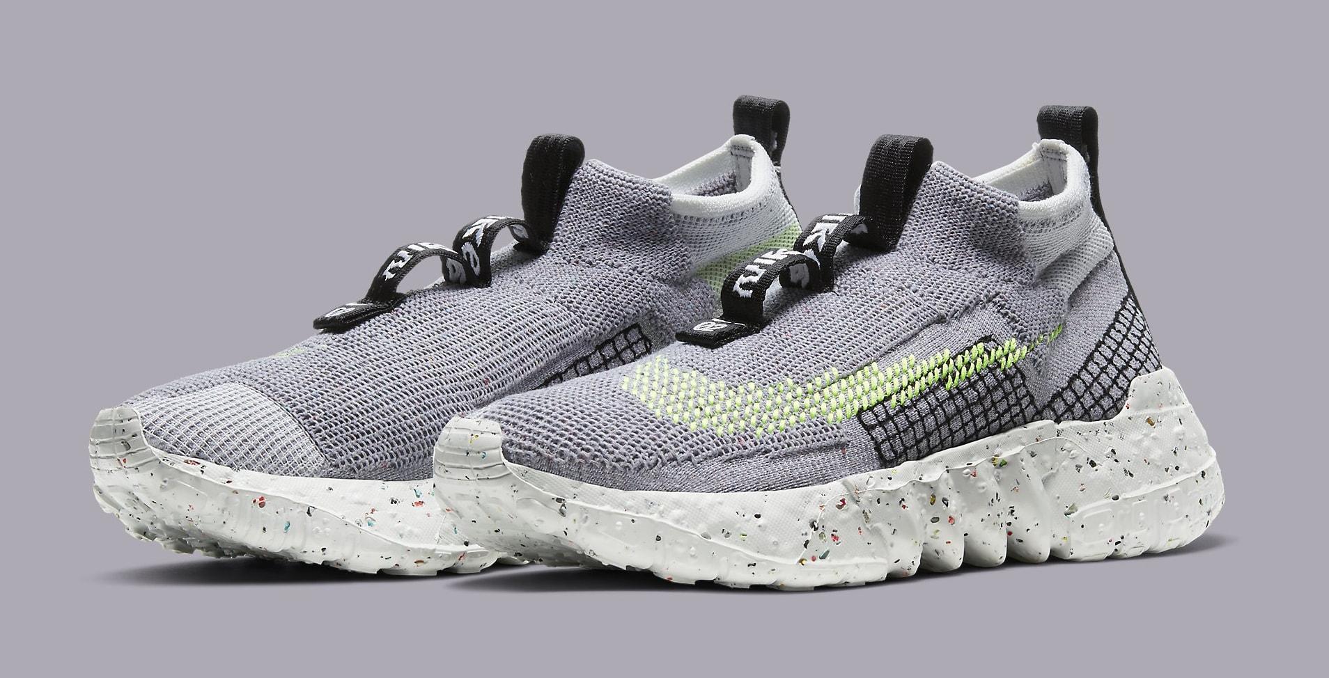 Nike Space Hippie 02 'Grey/Volt' CQ3988-002 Pair