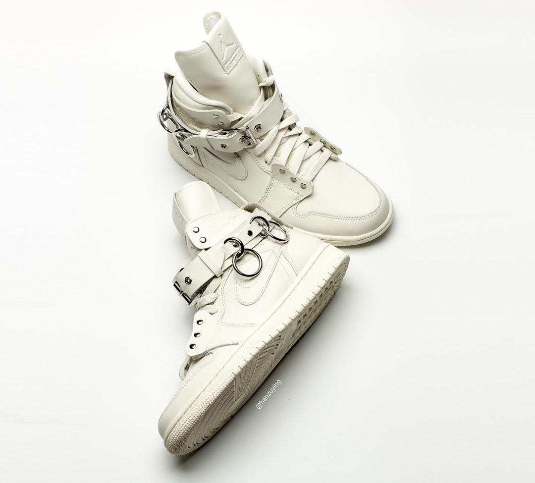 Comme Des Garcons x Air Jordan 1 'White' CN5738-100 Side