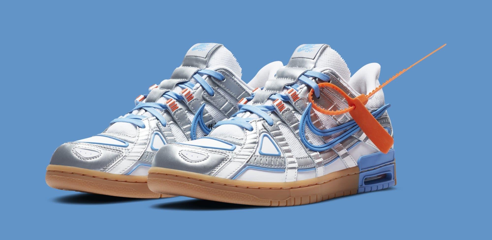 Off-White x Nike Air Rubber Dunk 'University Blue' CU6015-100 Pair