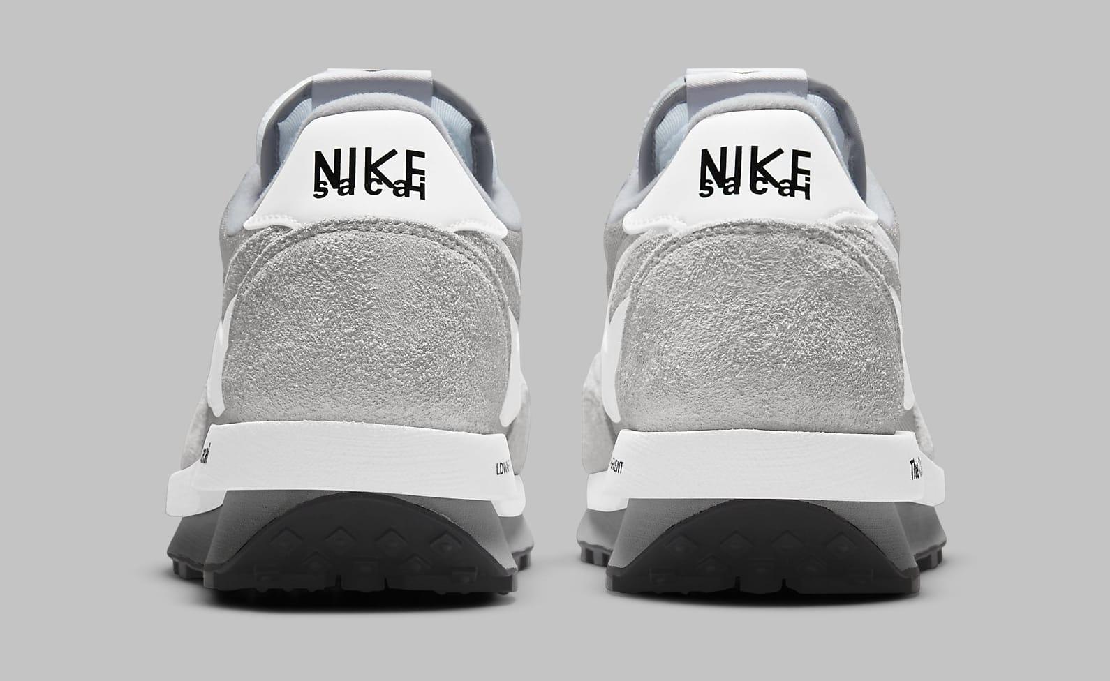 Fragment x Sacai x Nike LDWaffle 'Light Smoke Grey' DH2684-001 Heel