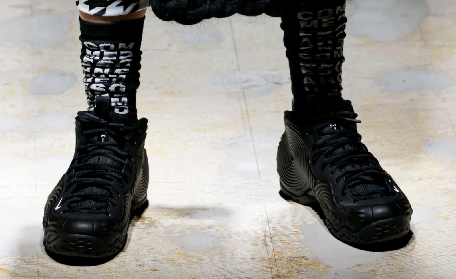 Comme des Garçons x Nike Air Foamposite One (Black 3)