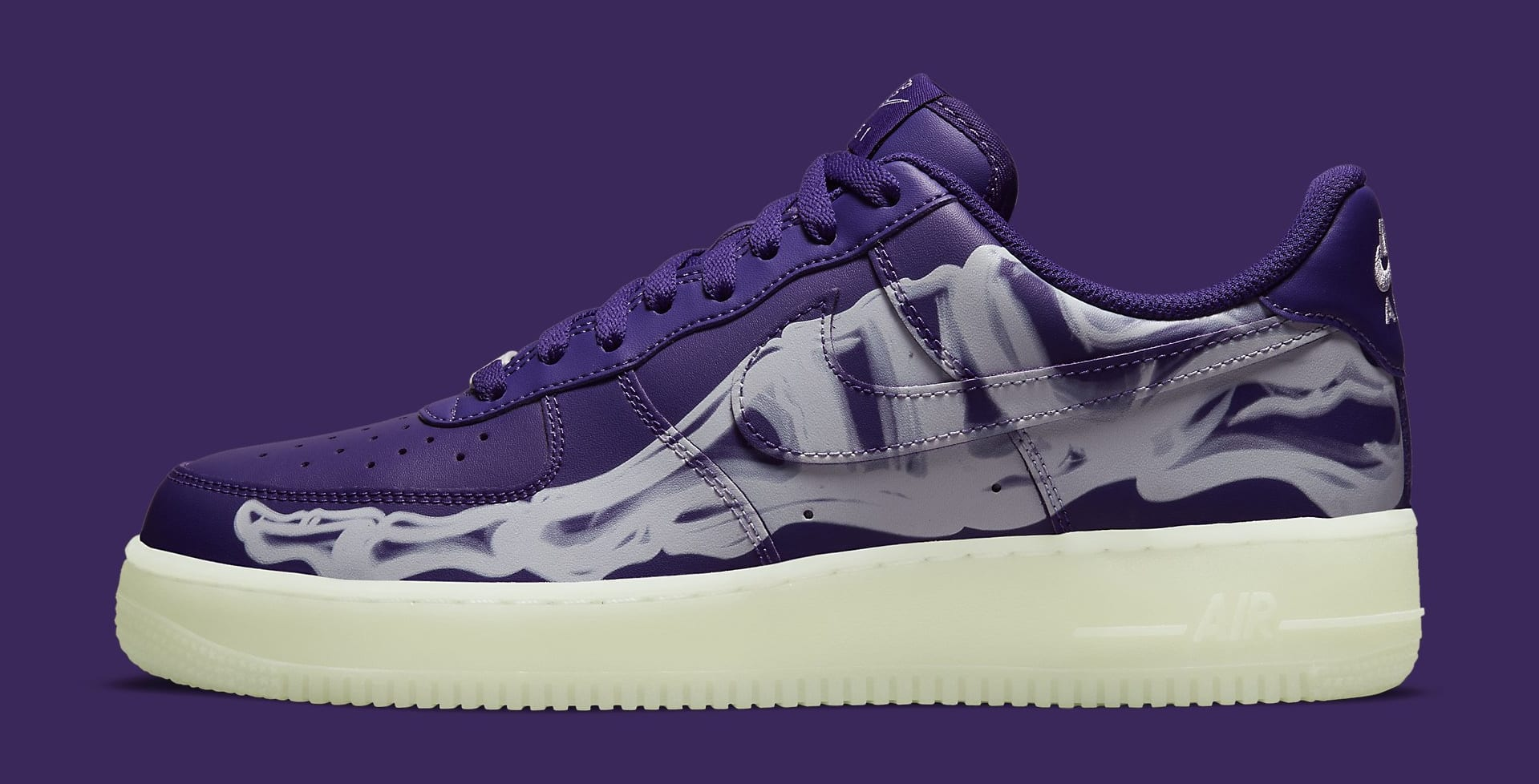 Nike Air Force 1 Low 'Purple Skeleton' CU8067-500 Lateral