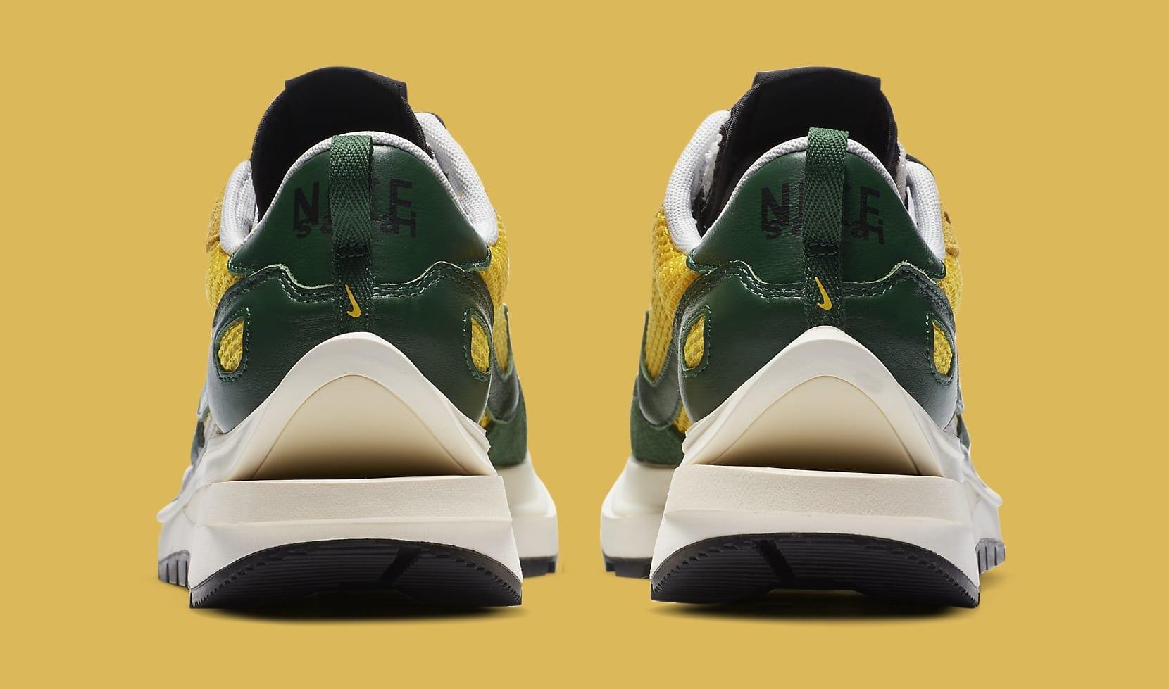 Sacai x Nike VaporWaffle 'Tour Yellow' CV1363-700 Heel
