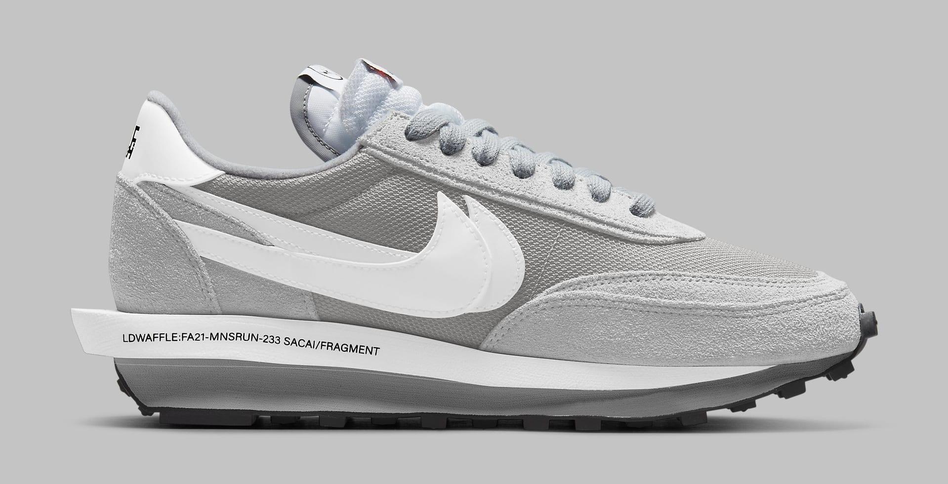 Fragment x Sacai x Nike LDWaffle 'Light Smoke Grey' DH2684-001 Medial
