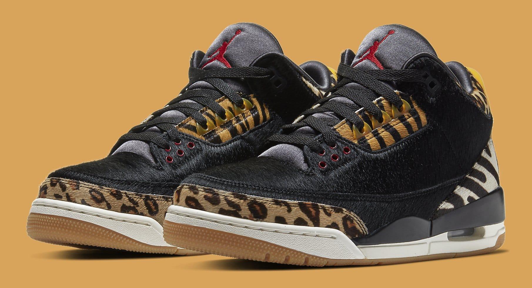 Air Jordan 3 Animal Instinct Release Date CK4344-002 Pair