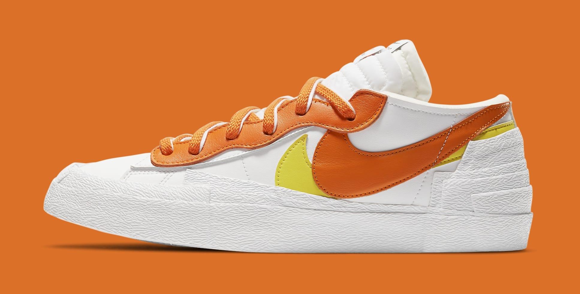 Sacai x Nike Blazer Low 'Magma Orange' DD1877-100 Lateral