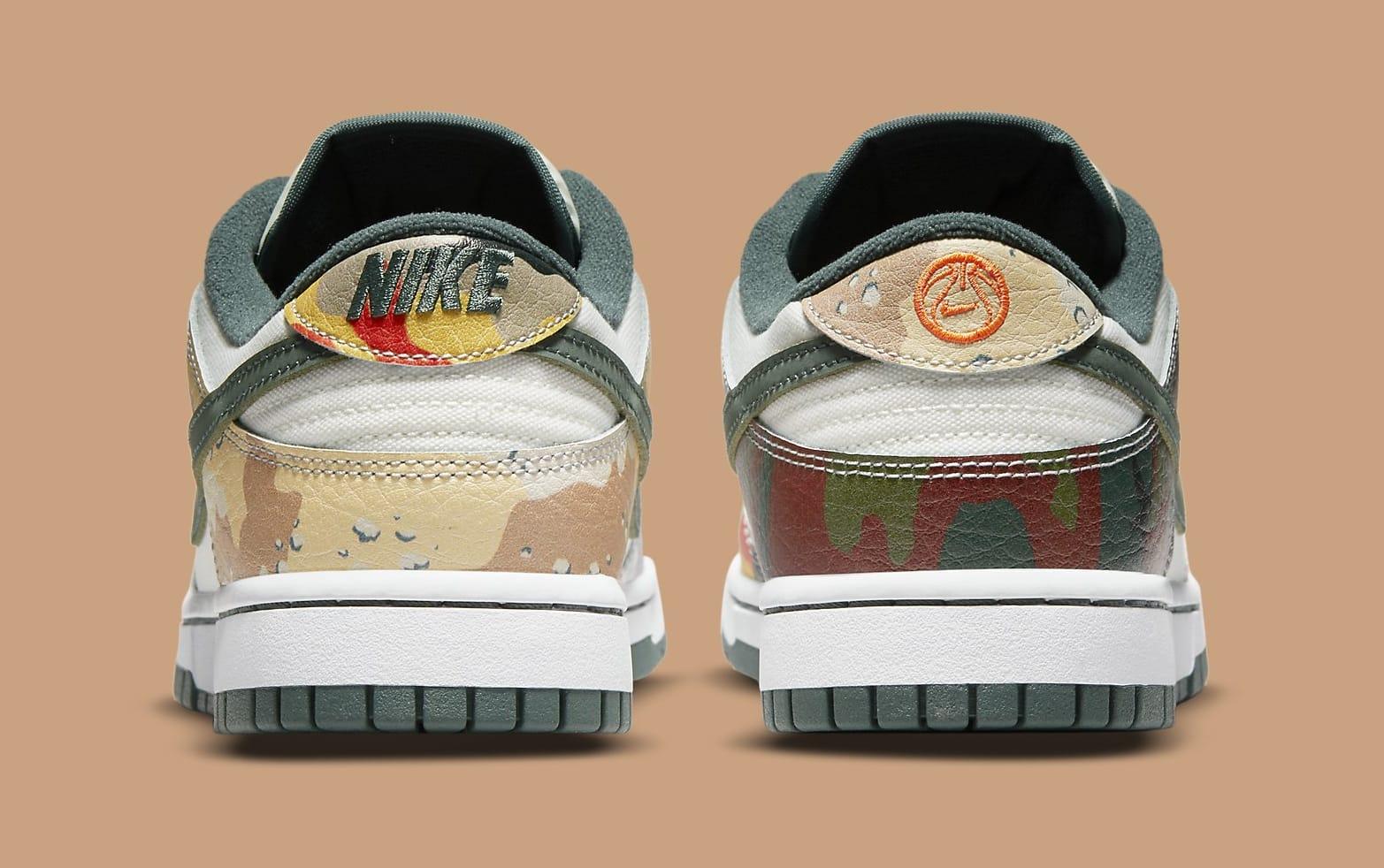 Nike Dunk Low 'Sail Multi-Camo' DH0957-100 Heel