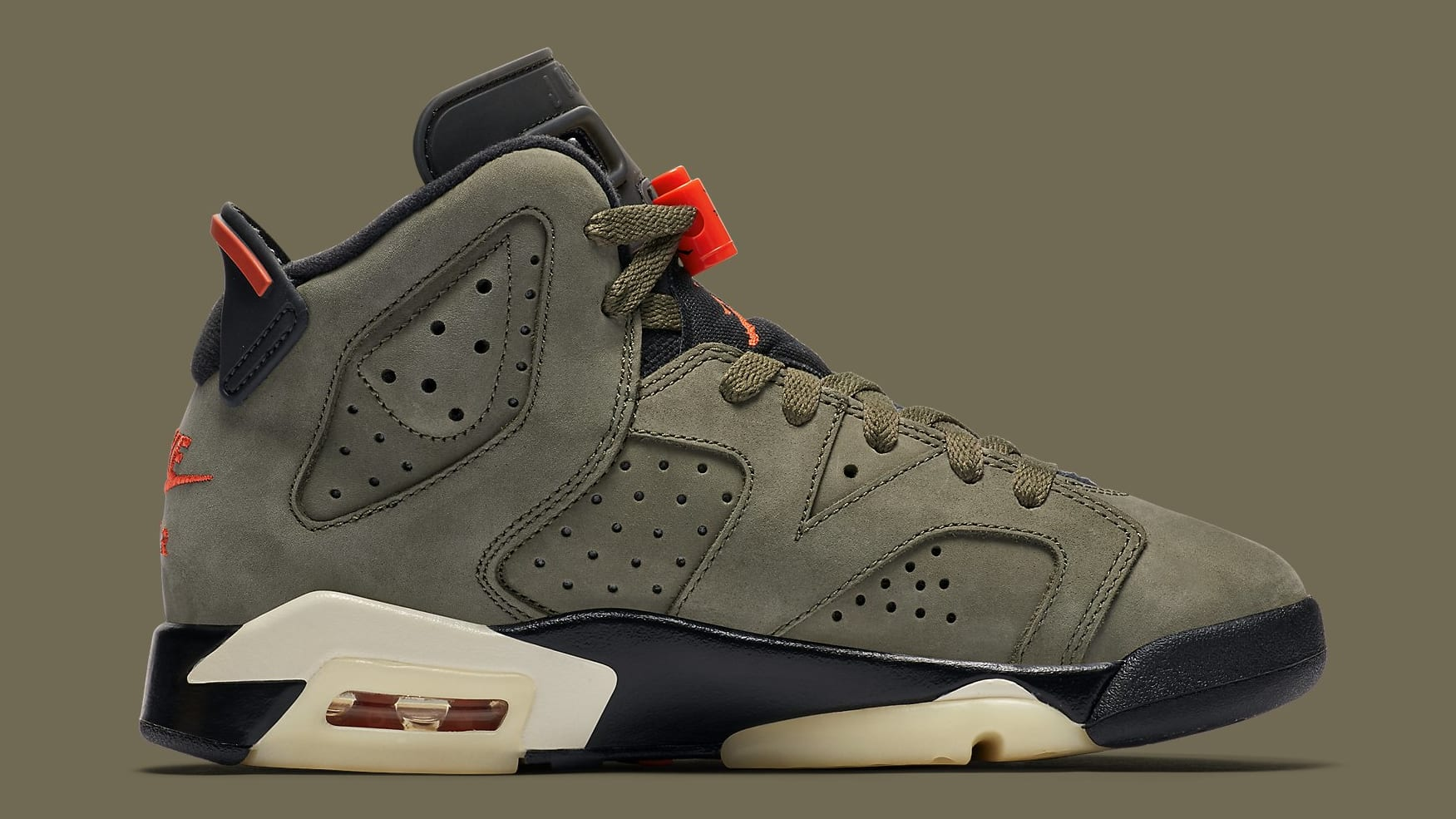 buy online 38577 00f3a Travis Scott Air Jordan 6 VI Medium Olive Release Date ...