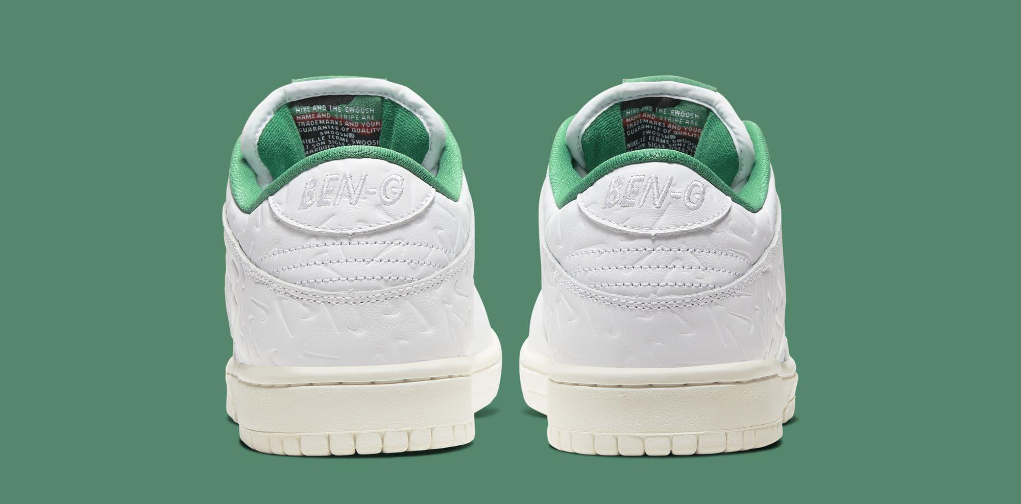 Ben-G x Nike SB Dunk Low CU3846-100 (Heel)
