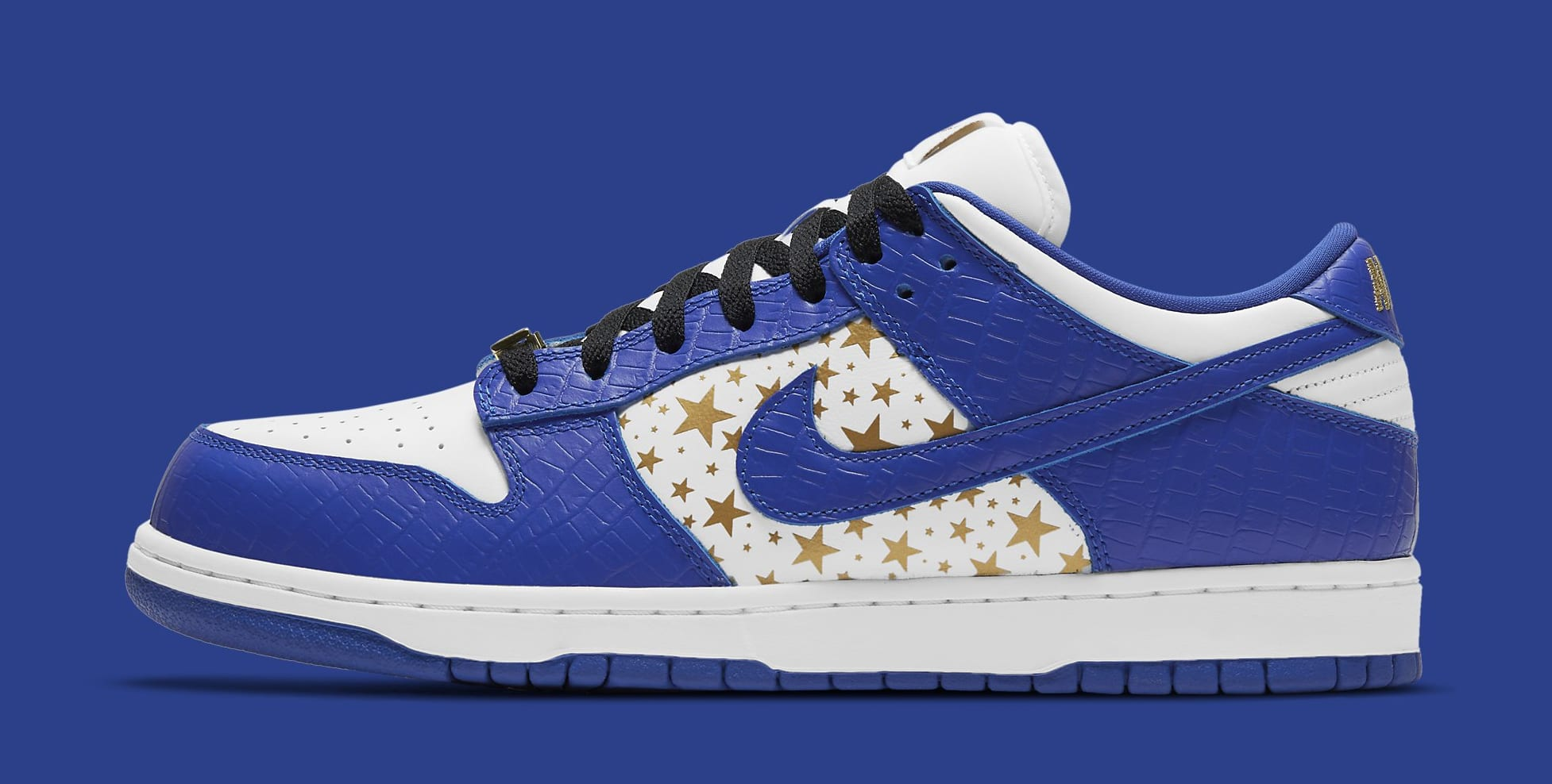 Supreme x Nike SB Dunk Low 'Hyper Royal' DH3228-100 Lateral