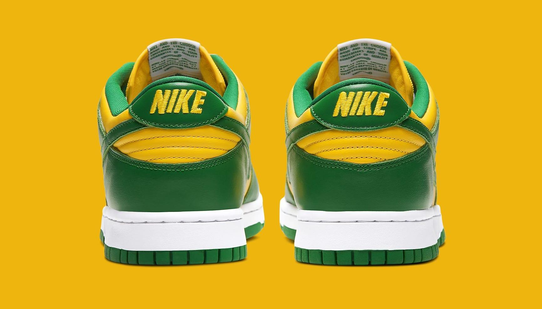 Nike Dunk Low 'Brazil' 2020 CU1727-700 Heel