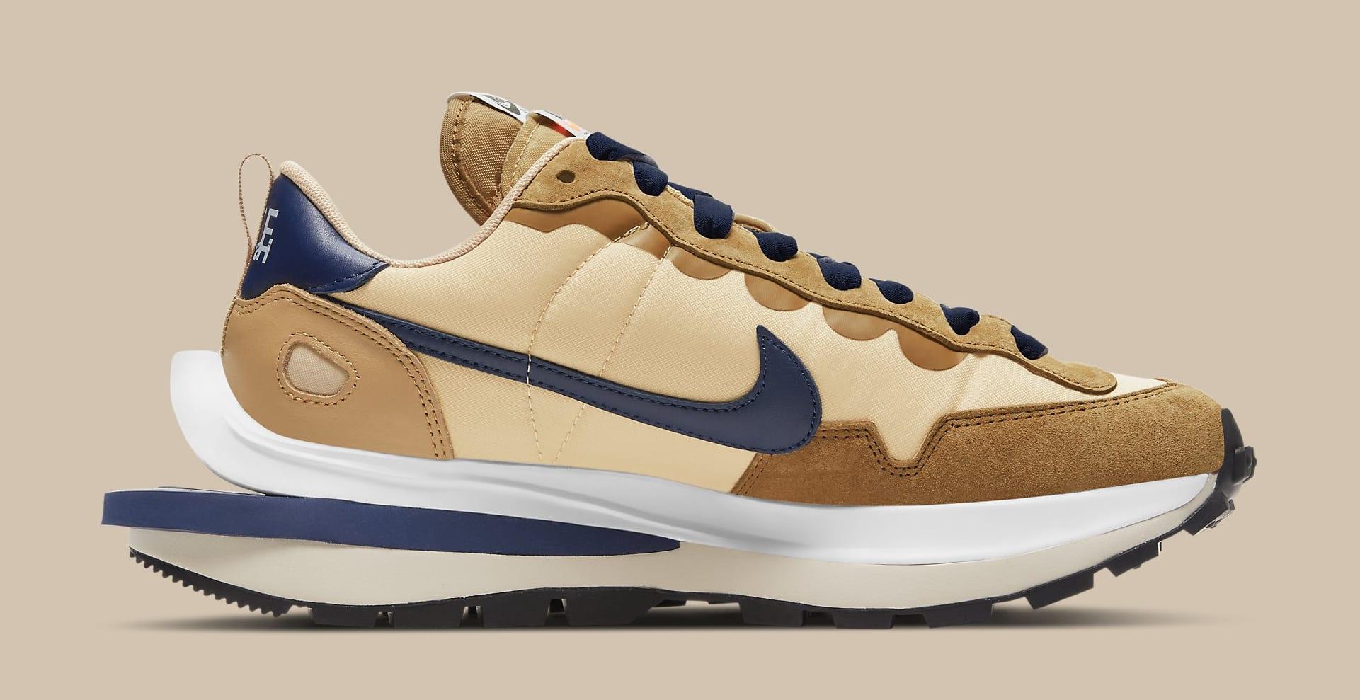 Sacai x Nike VaporWaffle 'Sesame/Blue Void' DD1875-200 Medial