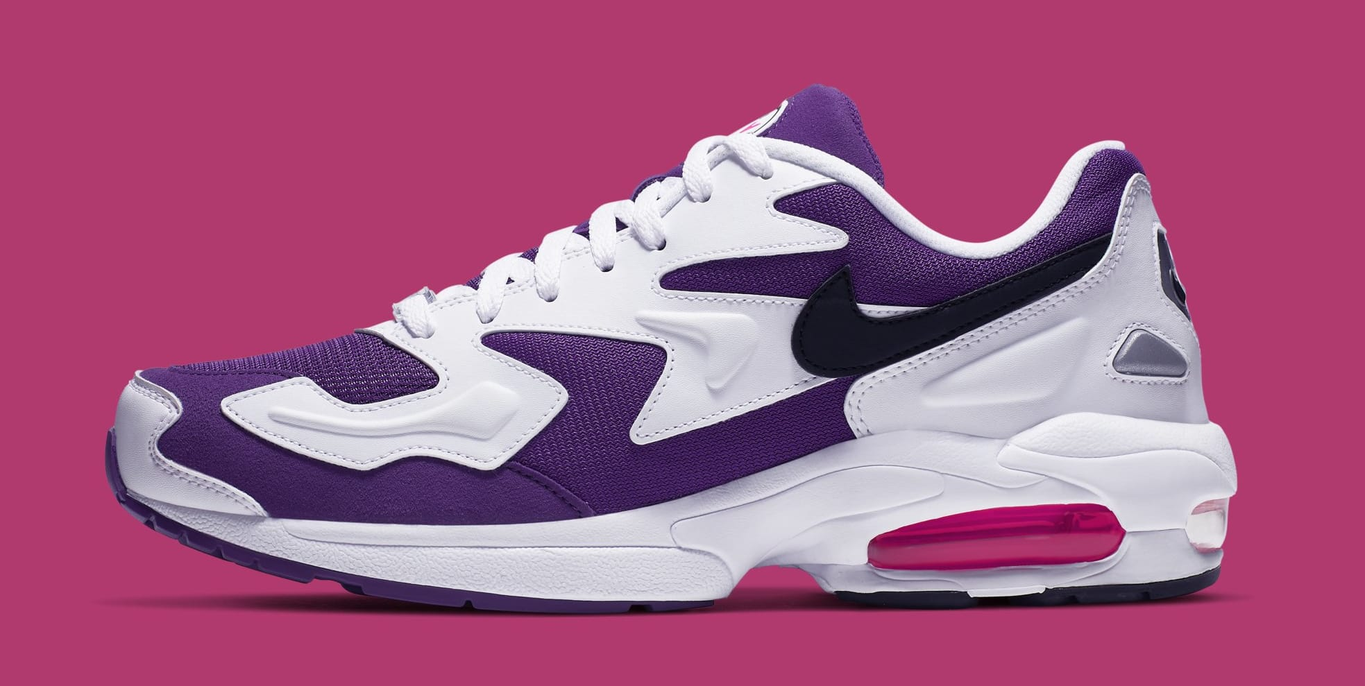 newest collection ec72f 8140e Nike Air Max2 Light  White Court Purple-Hyper Pink  AO1741-103