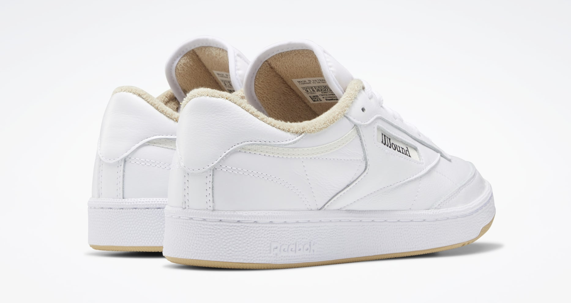 JJJJound x Reebok Club C 'Beige' FY6066 Heel