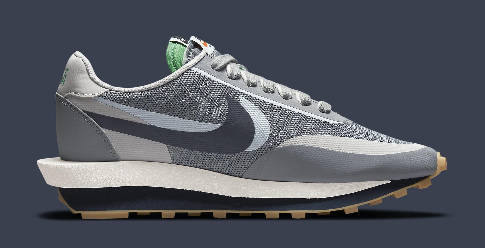 Clot x Sacai x Nike LDWaffle 'Cool Grey' DH3114-001 Medial