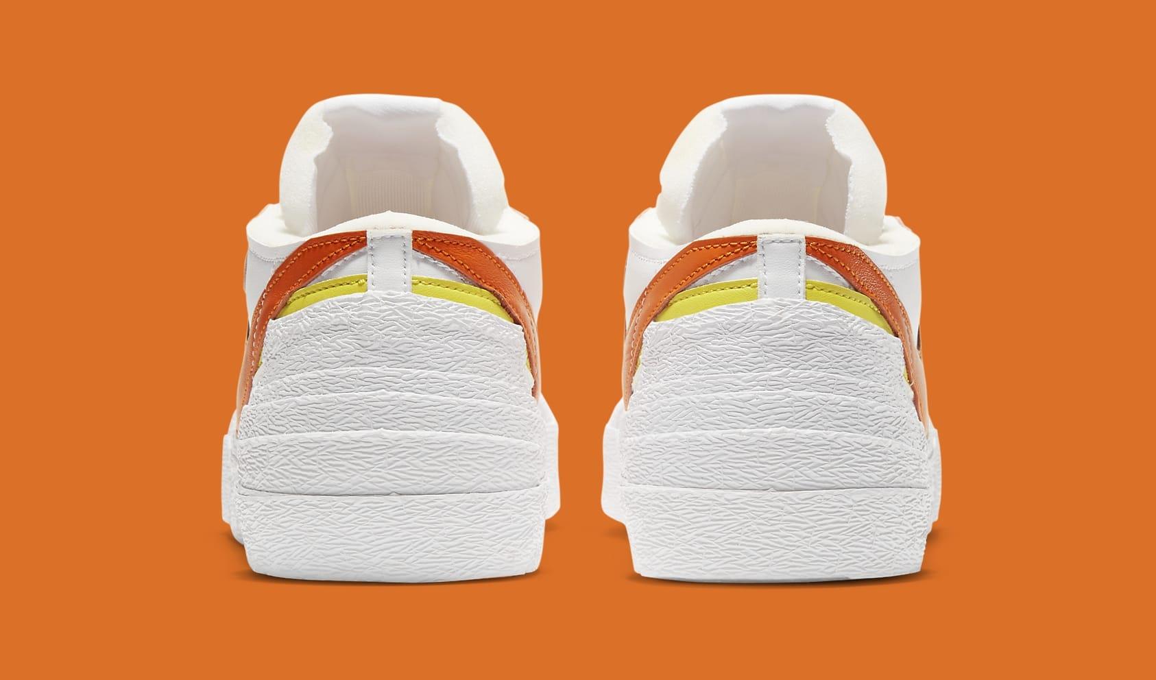 Sacai x Nike Blazer Low 'Magma Orange' DD1877-100 Heel