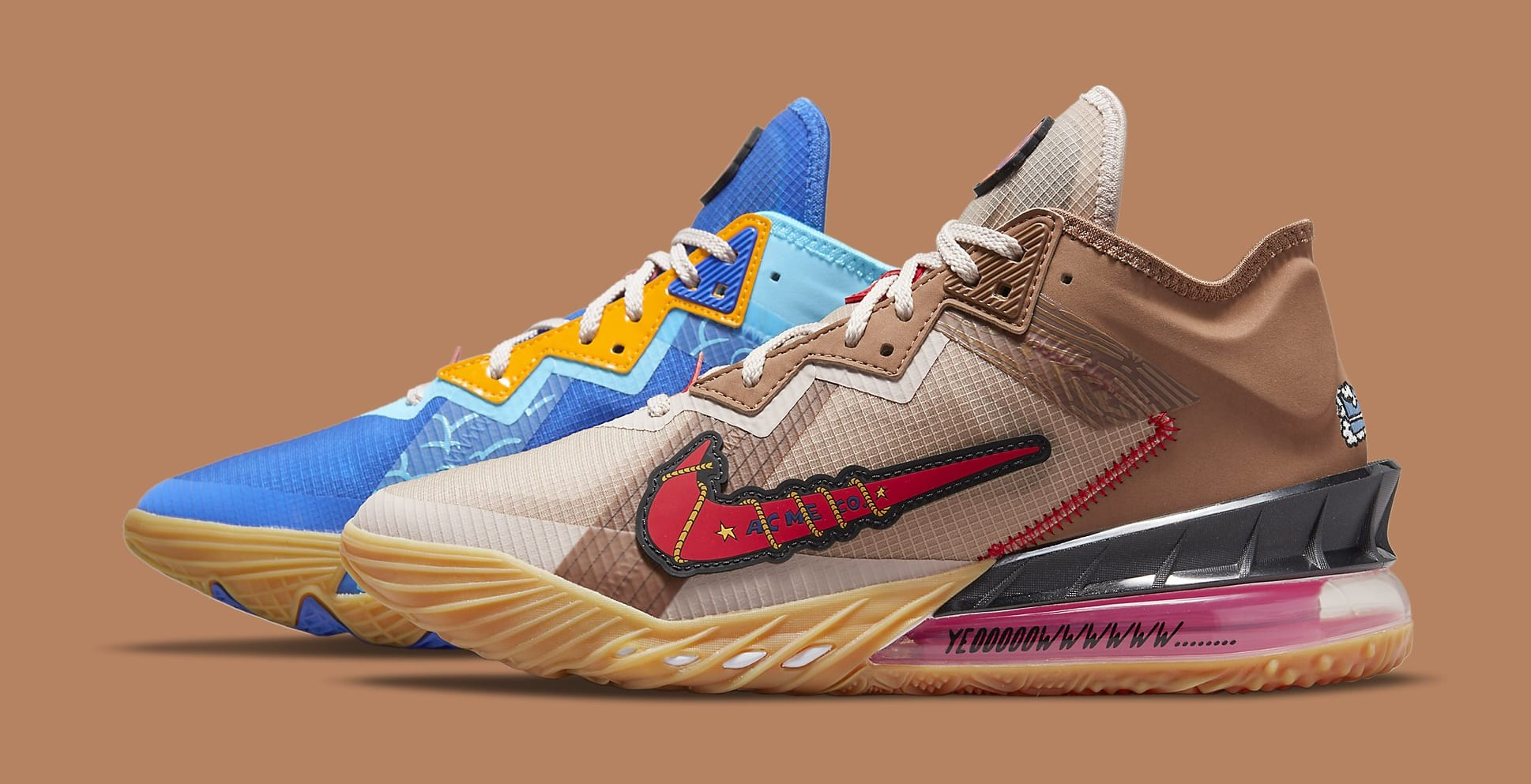 Xbox x Nike LeBron 18 Low 'Wile E. x Roadrunner' DO7172-900 Lateral