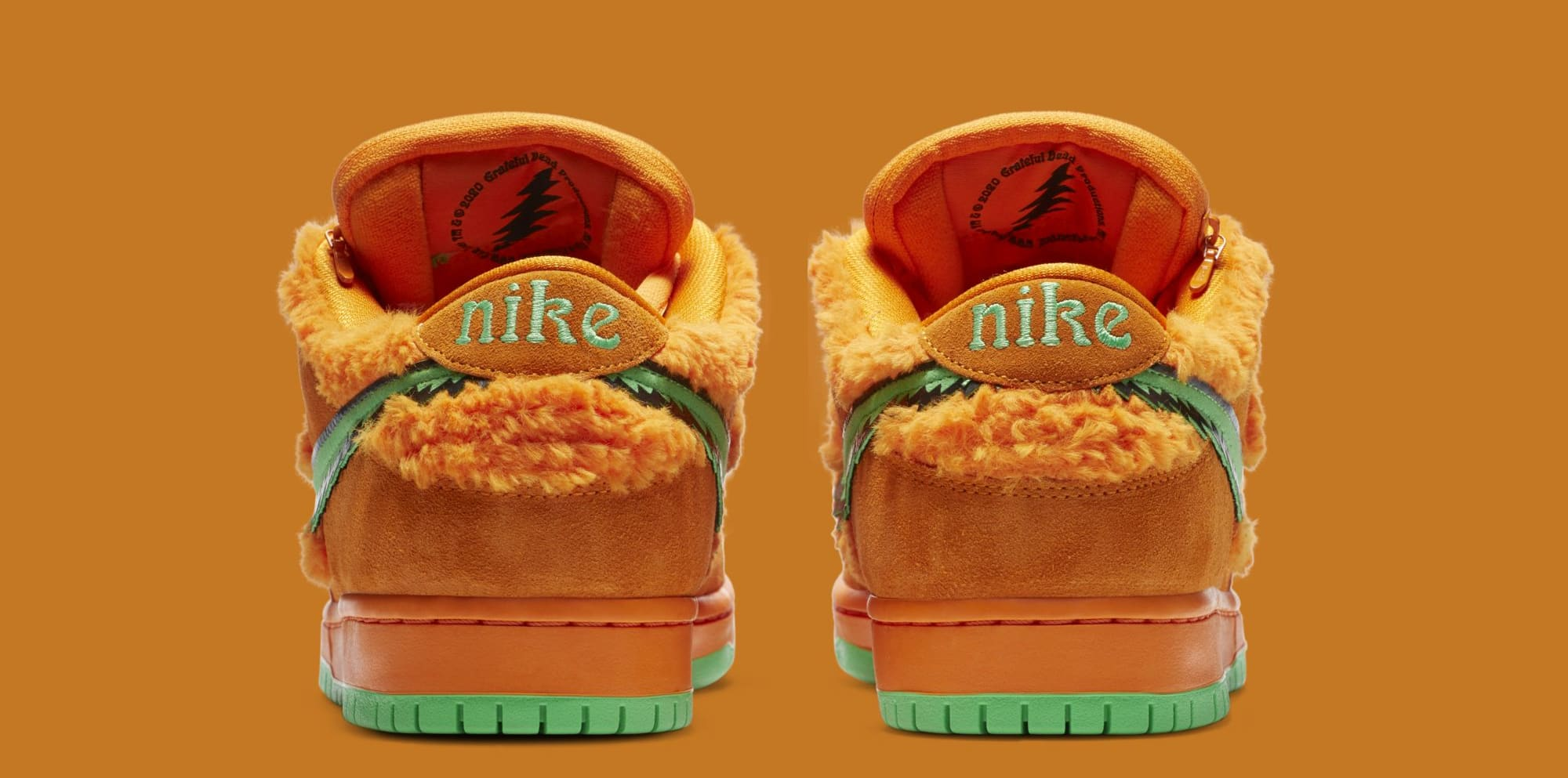 Grateful Dead x Nike SB Dunk Low 'Orange' CJ5378-800 (Heel)