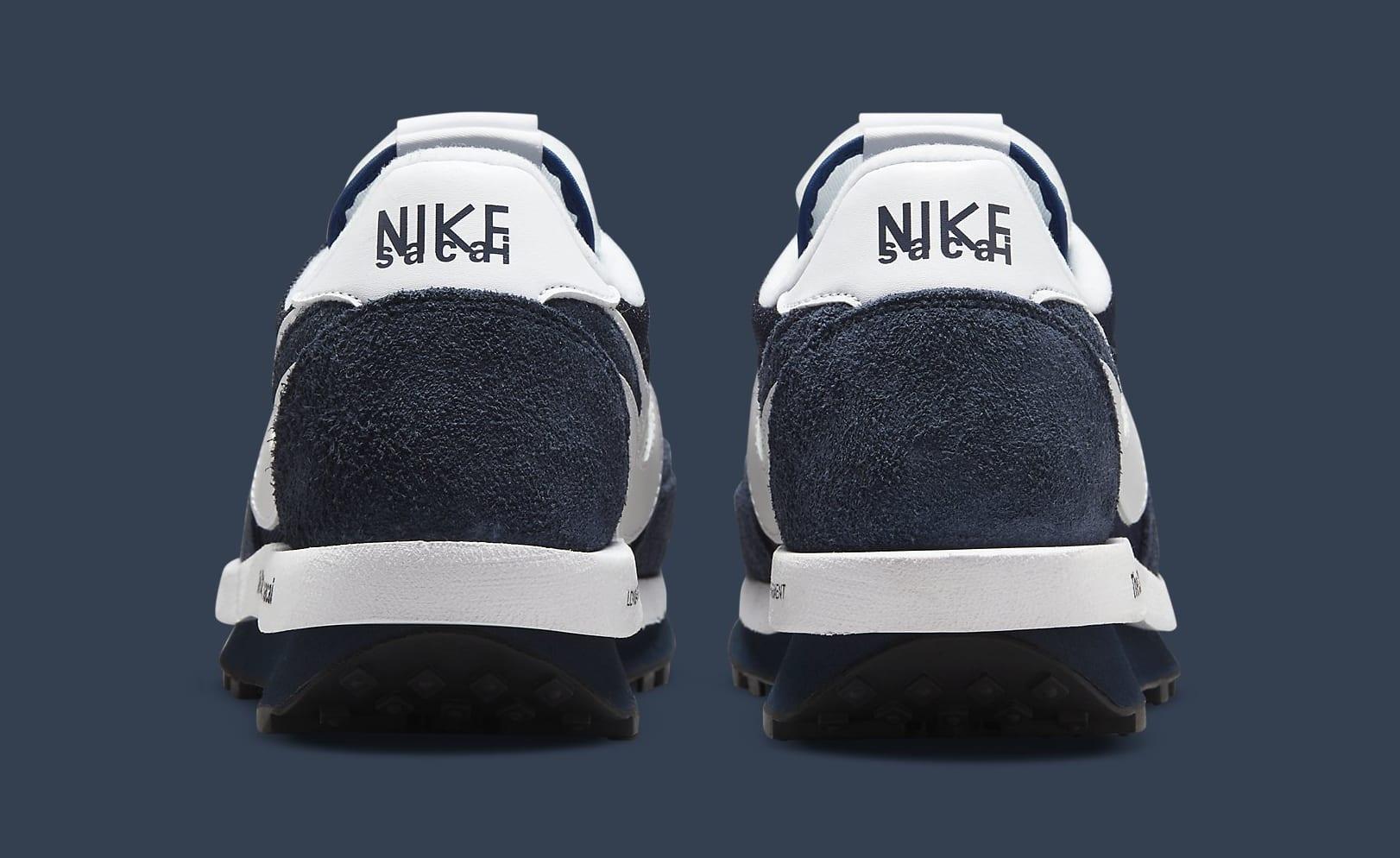 Fragment x Sacai x Nike LDWaffle 'Blackened Blue' DH2684-400 Heel