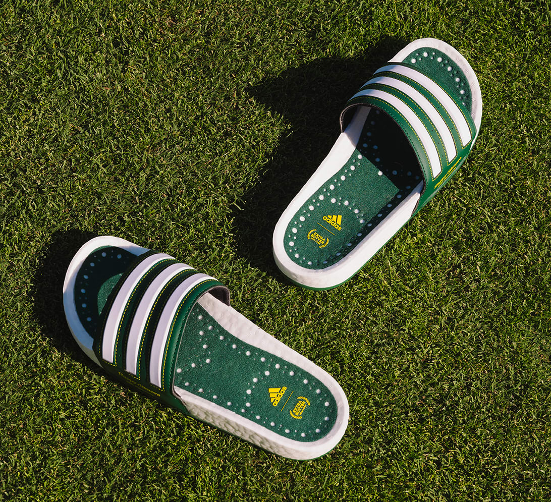 Extra Butter x Adidas Adilette Boost Slide 'Happy Gilmore'