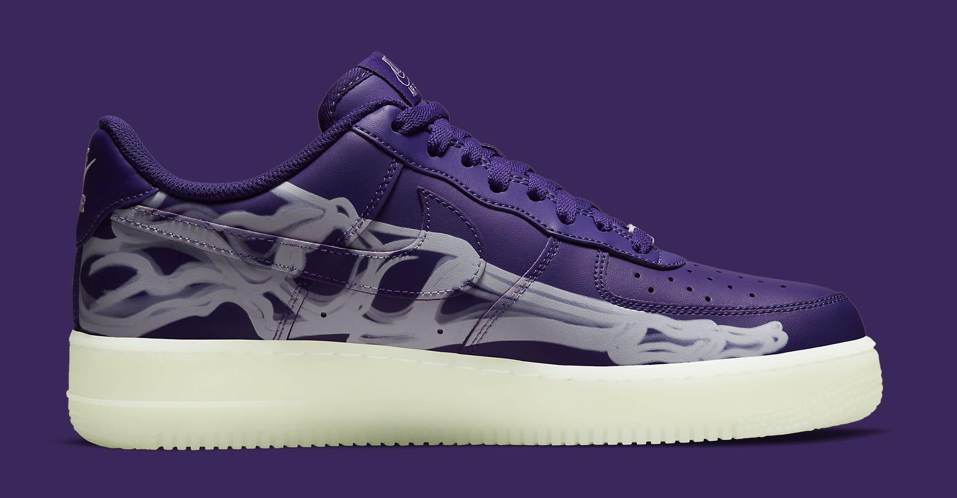 Nike Air Force 1 Low 'Purple Skeleton' CU8067-500 Medial